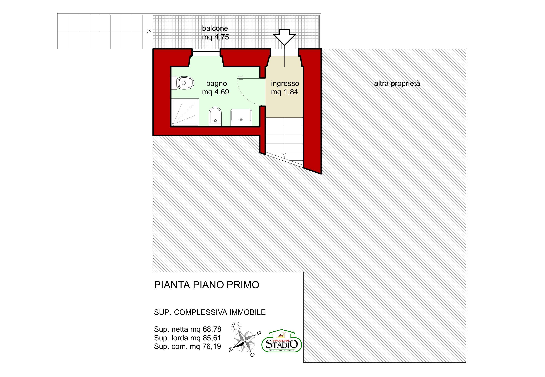 Planimetria 1/3 per rif. A187