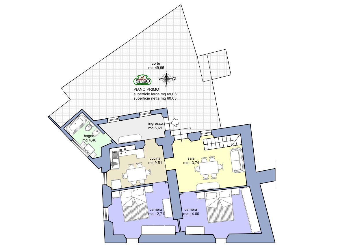Planimetria 1/2 per rif. C118