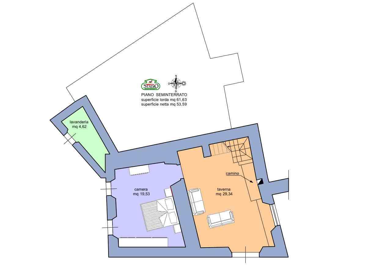 Planimetria 2/2 per rif. C118