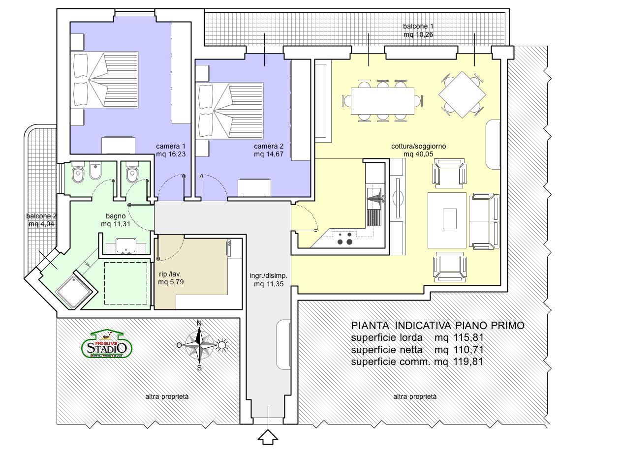 Planimetria 1/1 per rif. A197