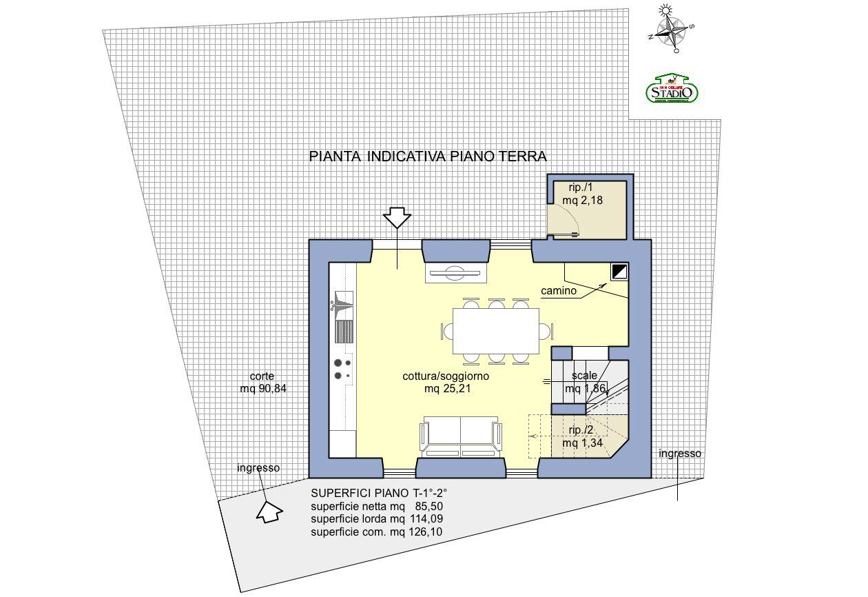 Planimetria 1/4 per rif. C121