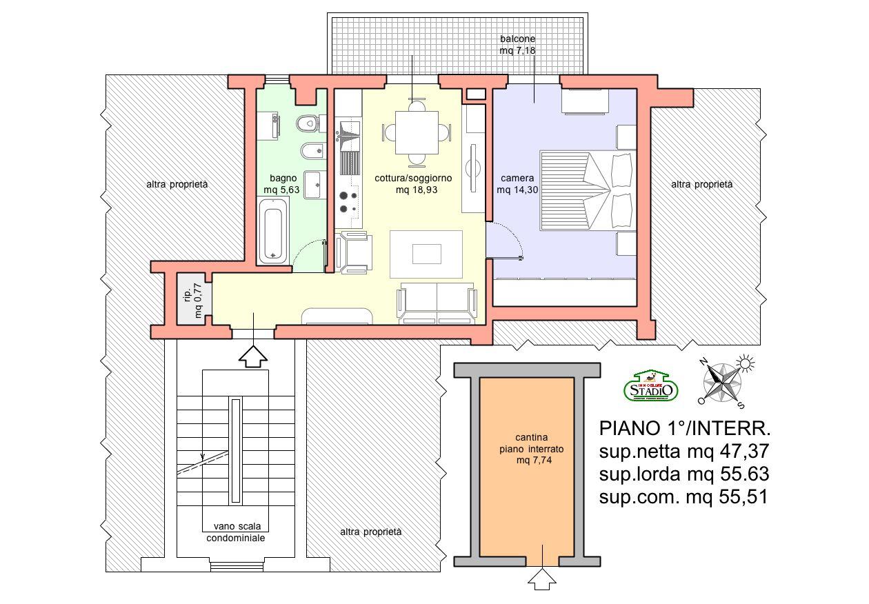 Appartamento in vendita, rif. A010 (Planimetria 1/1)