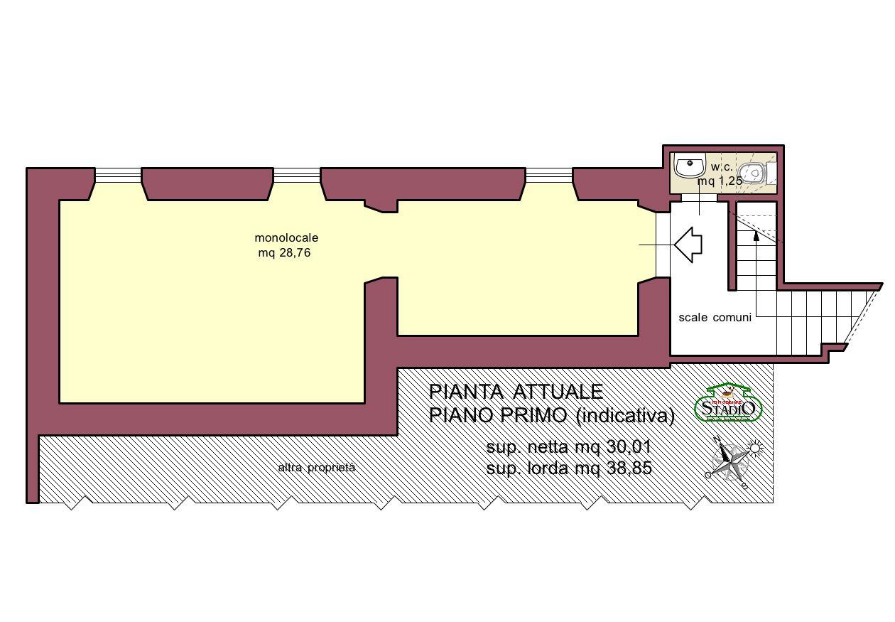 Planimetria 1/2 per rif. A208