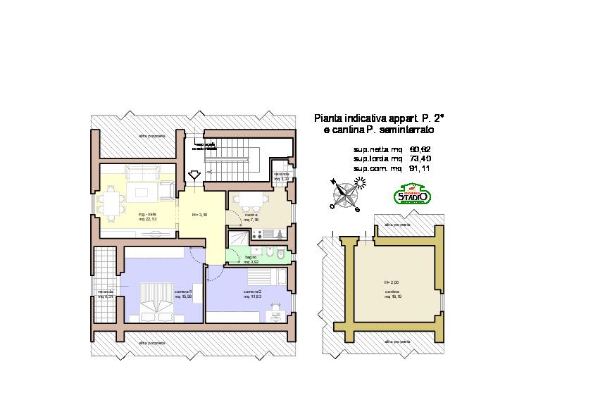 Planimetria 1/1 per rif. A209