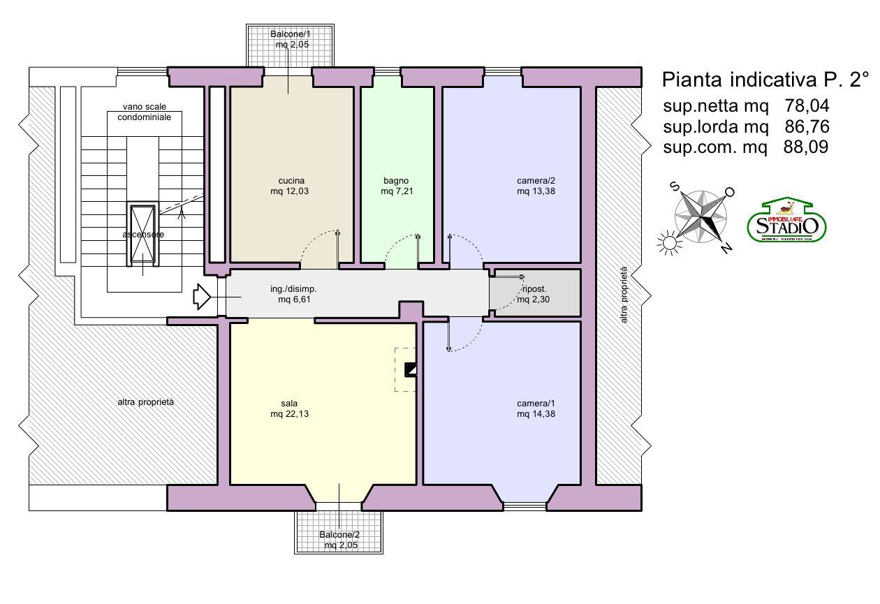 Planimetria 1/1 per rif. A211