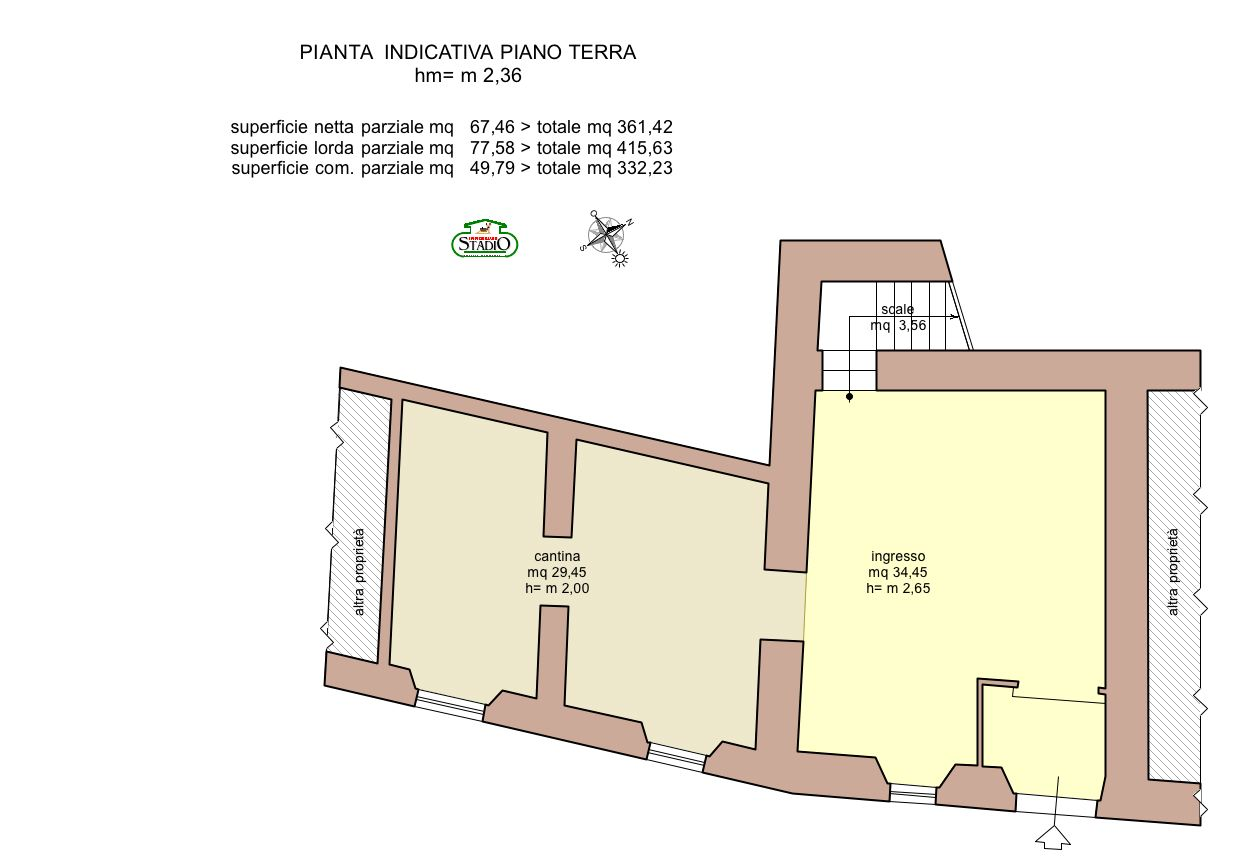 Planimetria 1/4 per rif. C124