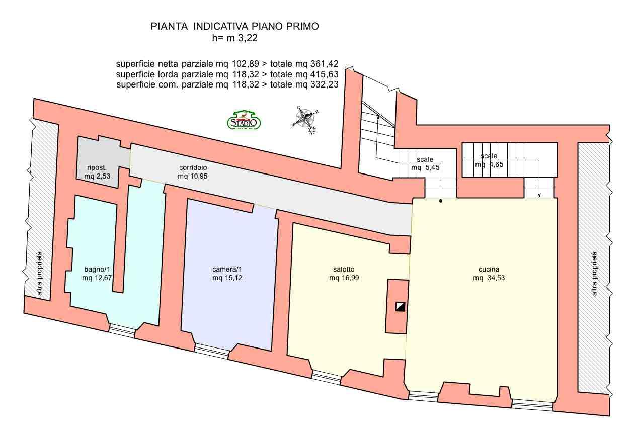 Planimetria 2/4 per rif. C124