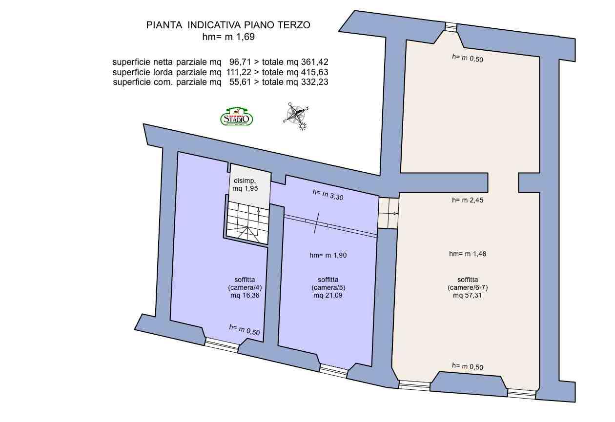 Planimetria 4/4 per rif. C124
