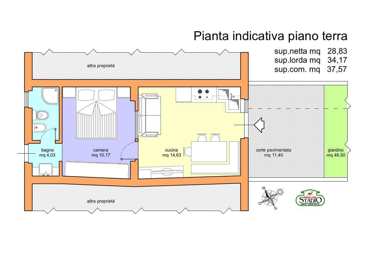 Planimetria 1/2 per rif. C122