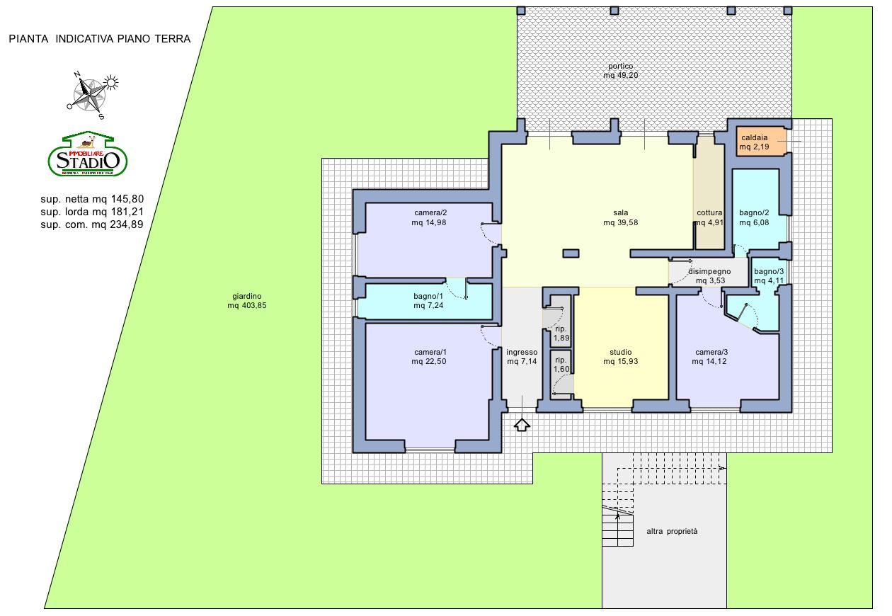 Planimetria 1/1 per rif. C126