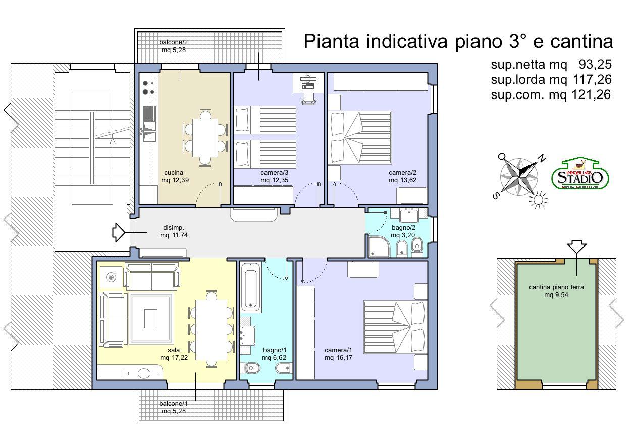 Planimetria 1/1 per rif. A064