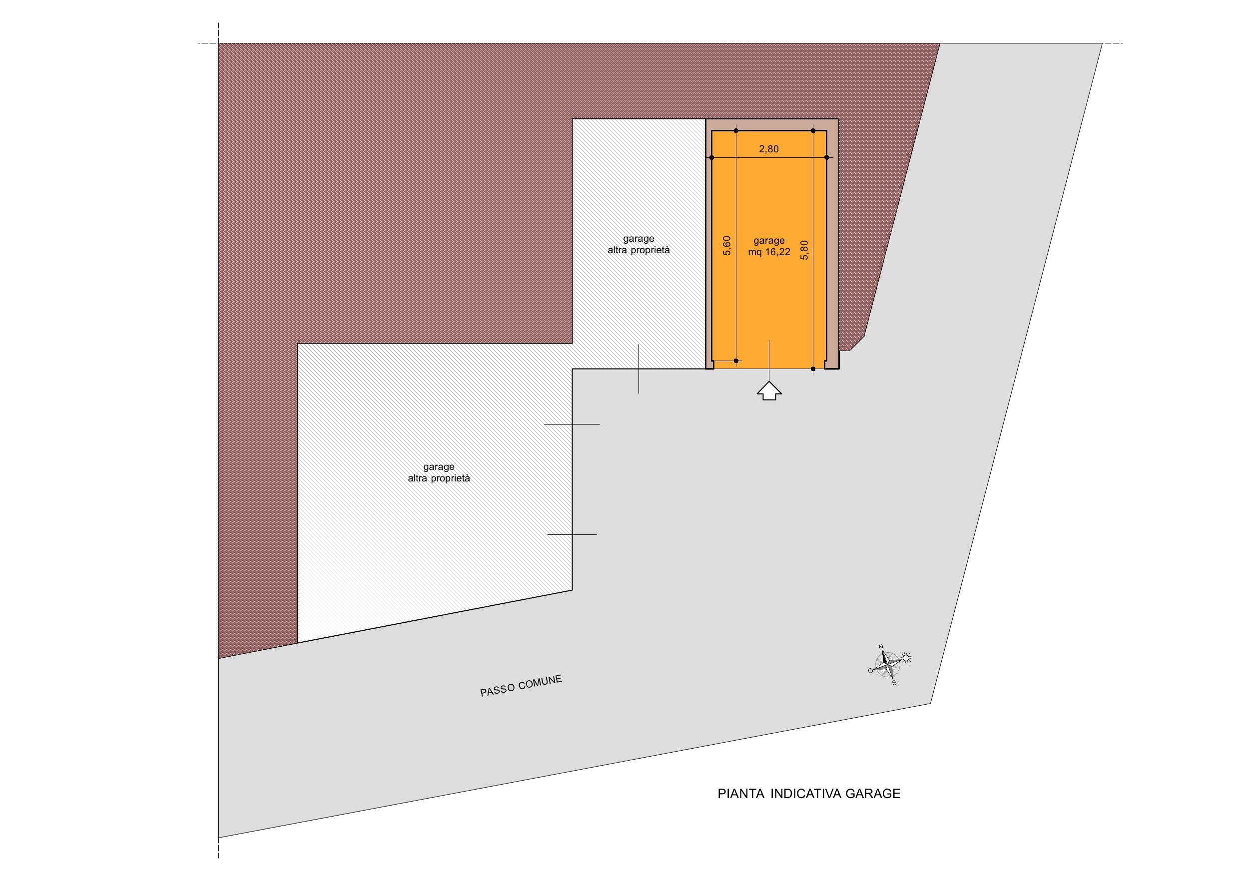Planimetria 3/4 per rif. A181