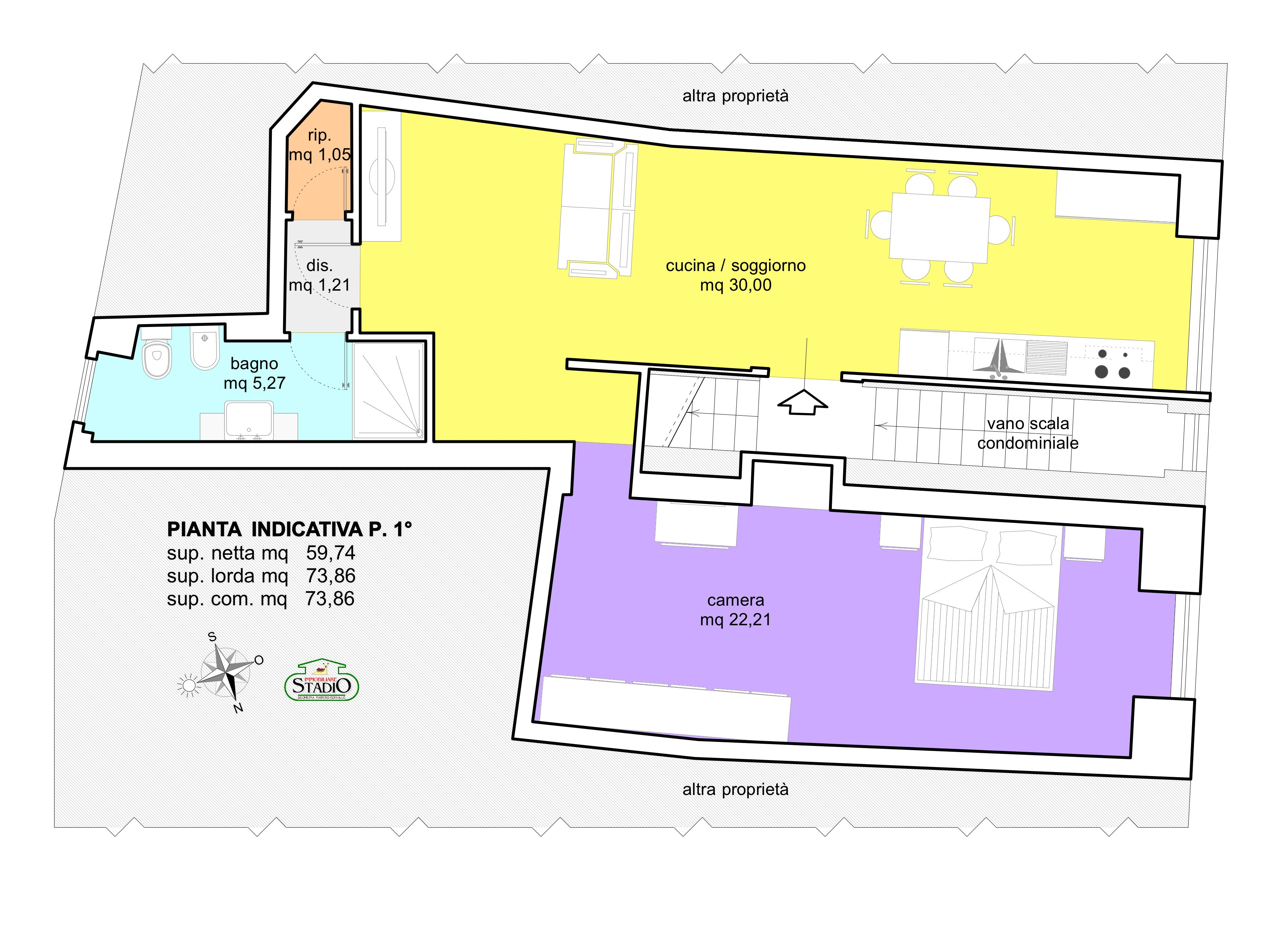 Planimetria 1/1 per rif. AF114