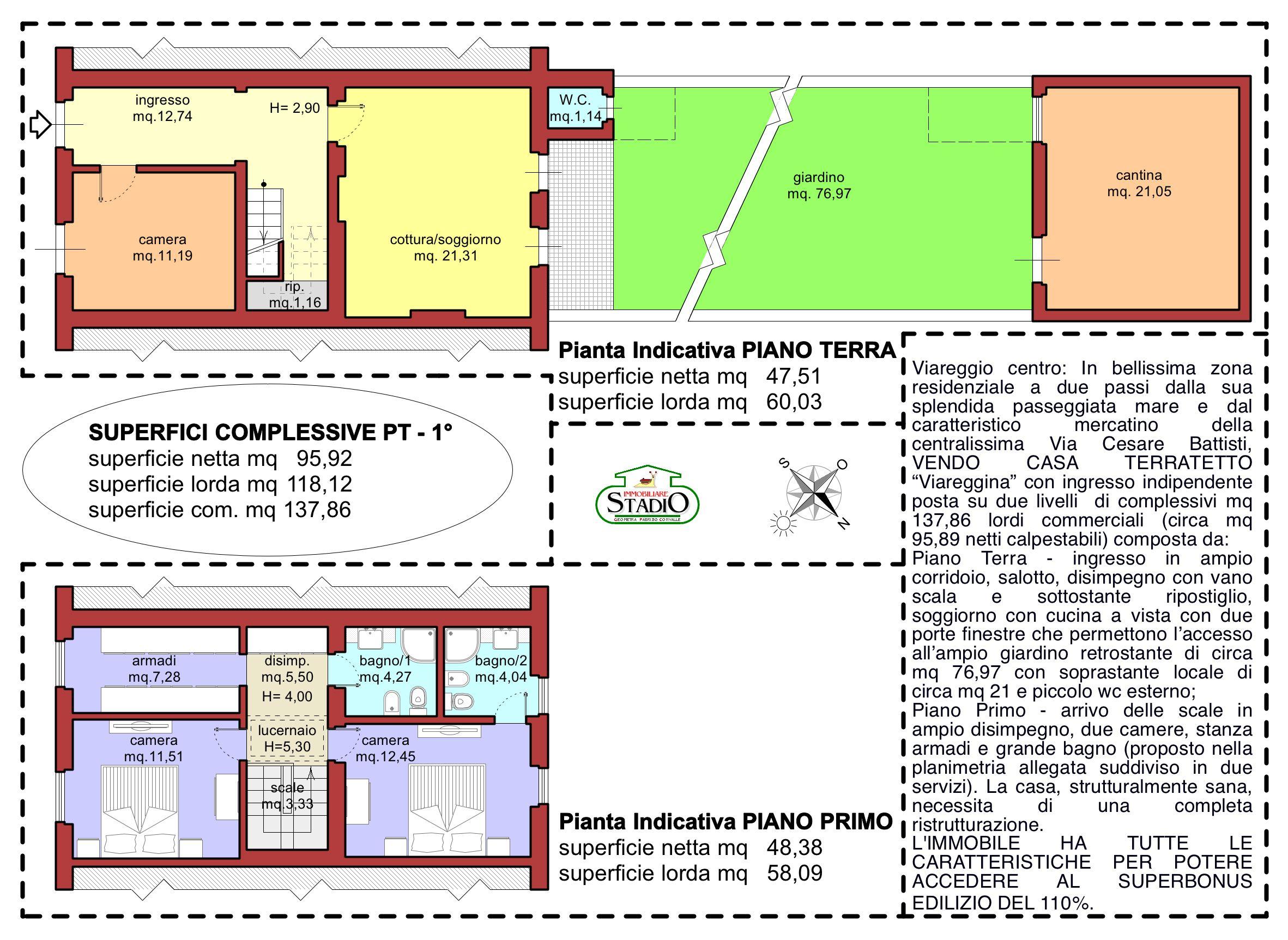Planimetria 1/1 per rif. C133