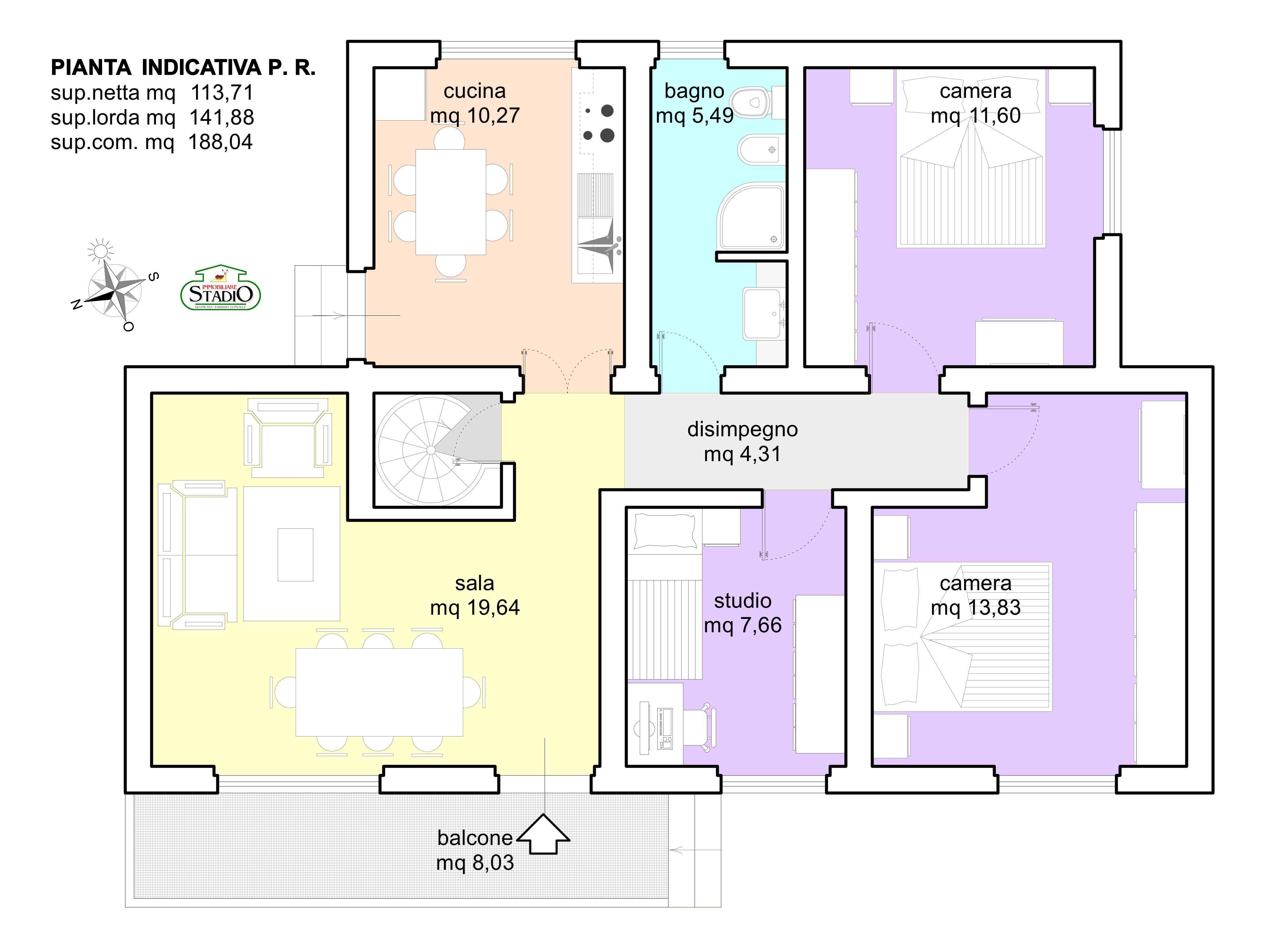 Planimetria 1/2 per rif. C135