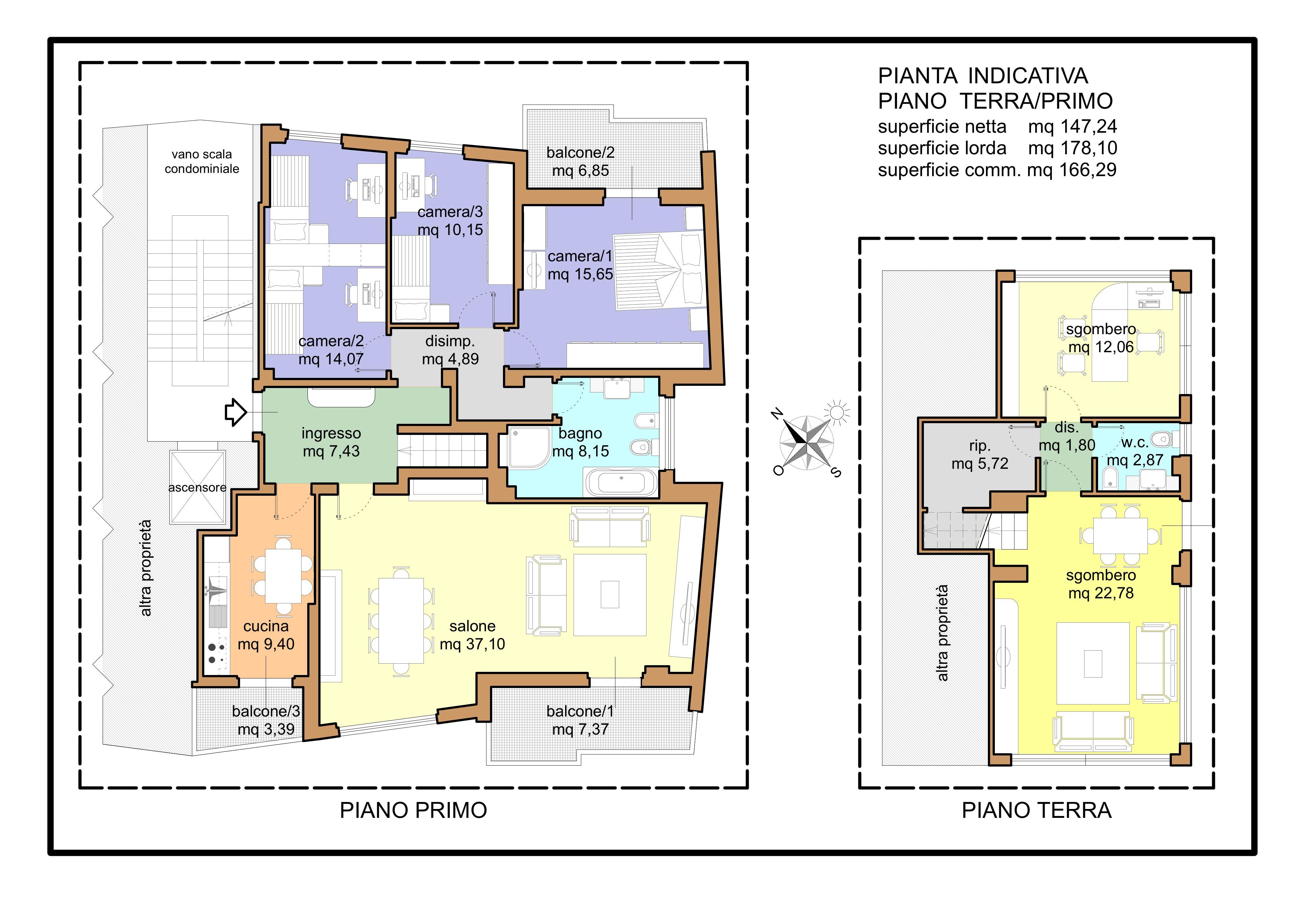 Planimetria 1/1 per rif. A245