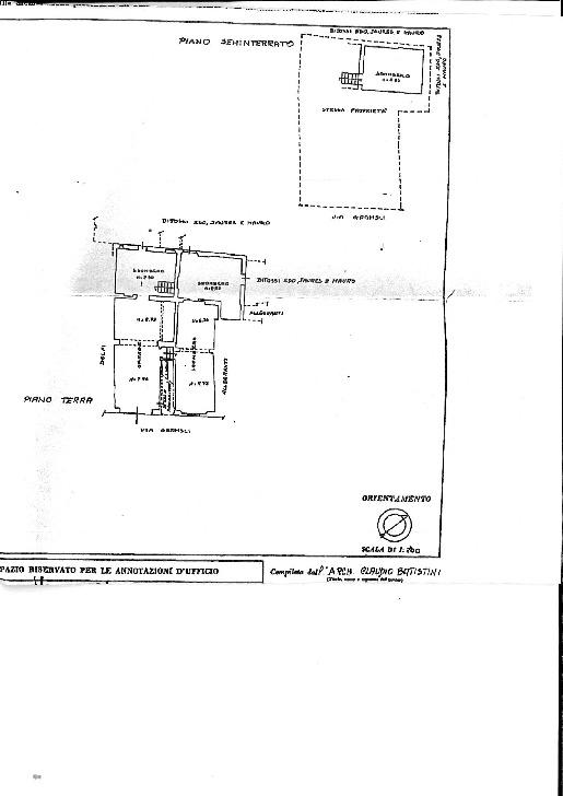 Planimetria 1/3 per rif. TV/94