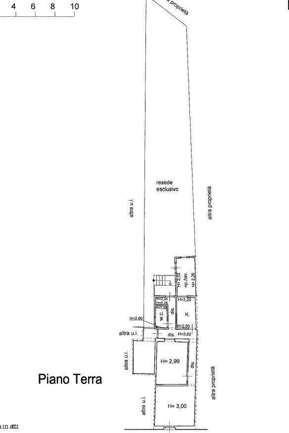 Planimetria 1/1 per rif. 2062F