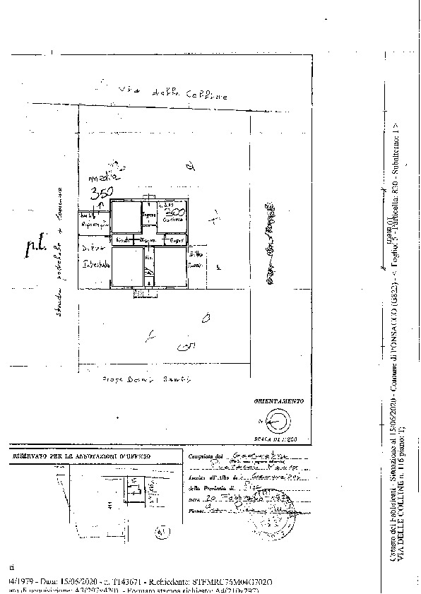 Planimetria 1/1 per rif. 2131