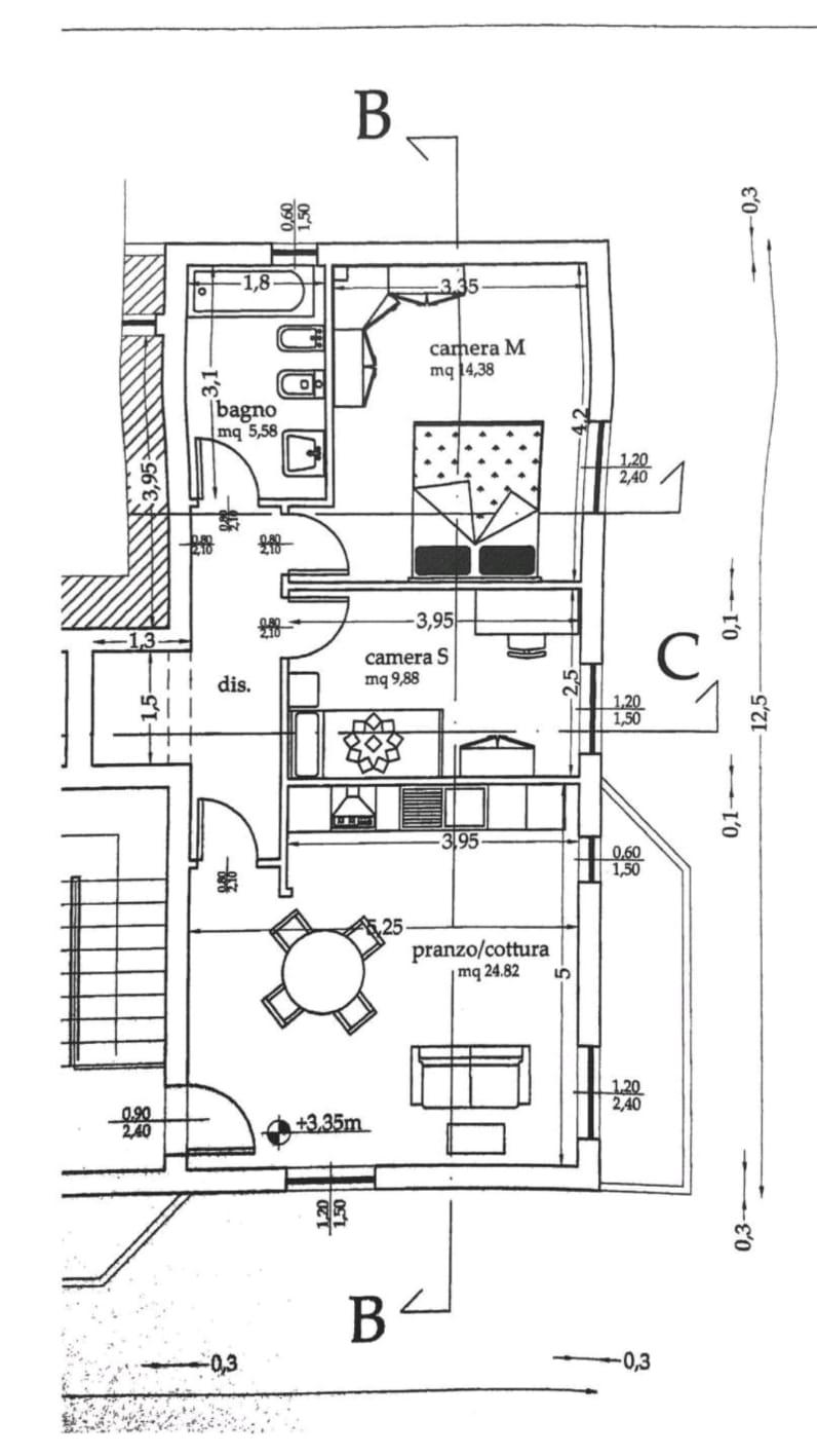 Planimetria 1/1 per rif. 2135