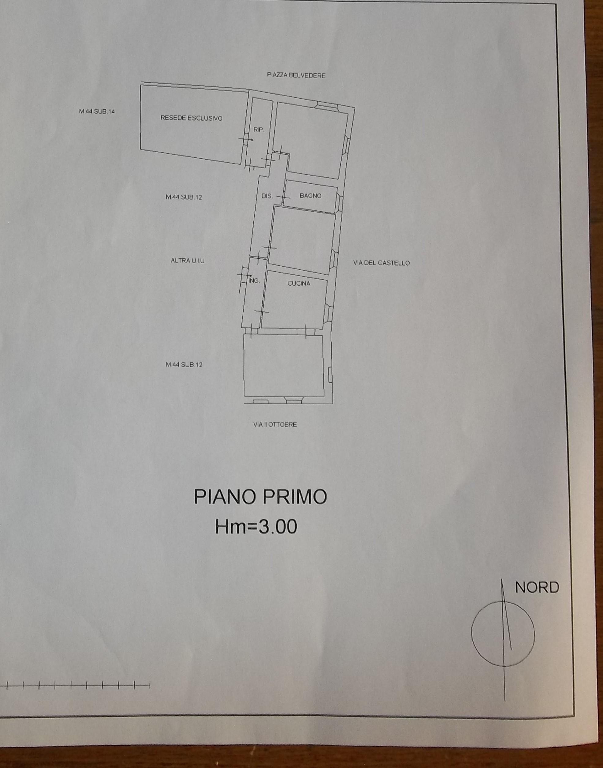 Planimetria 2/3 per rif. 2219