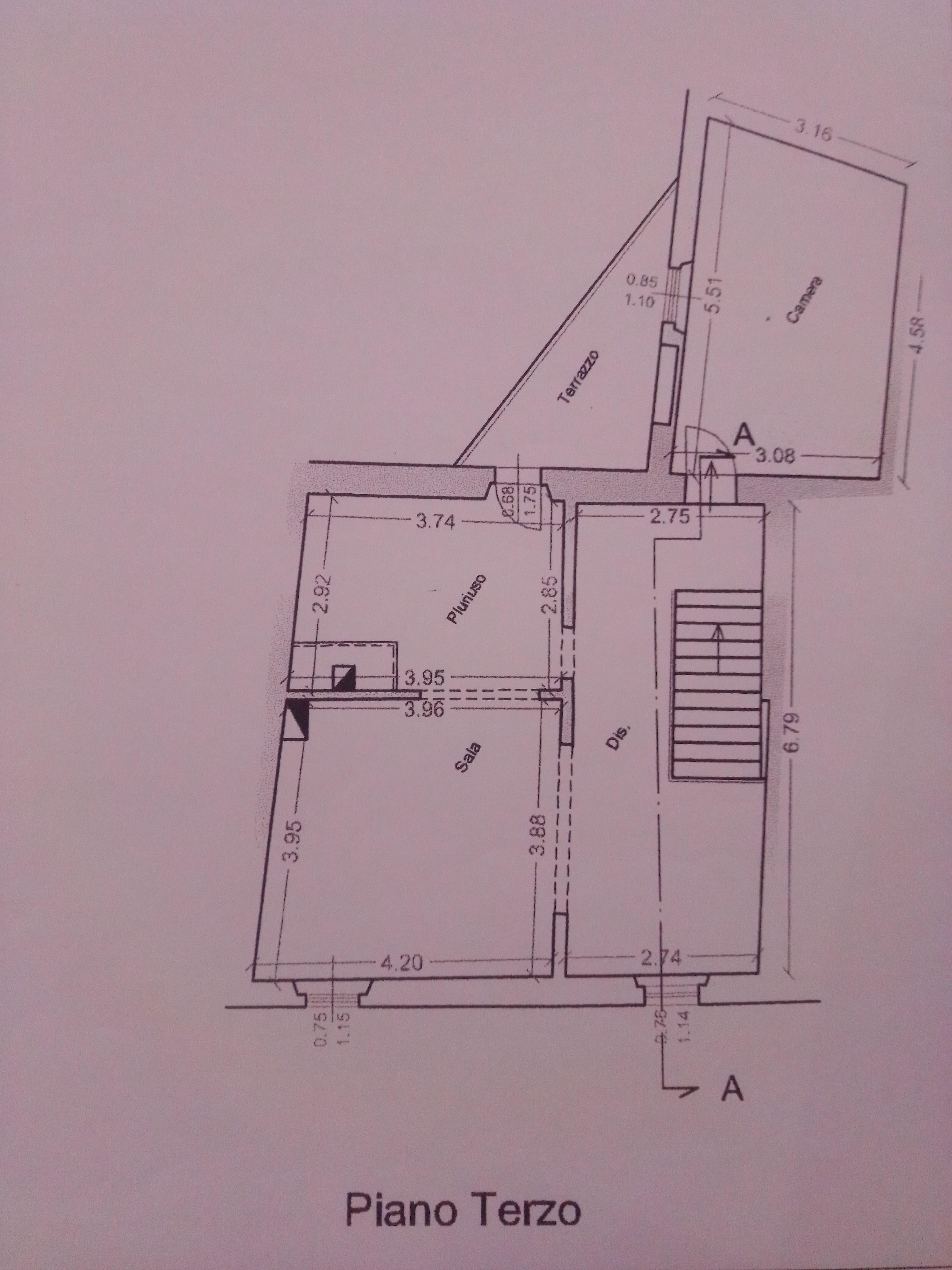 Planimetria 2/2 per rif. 2241