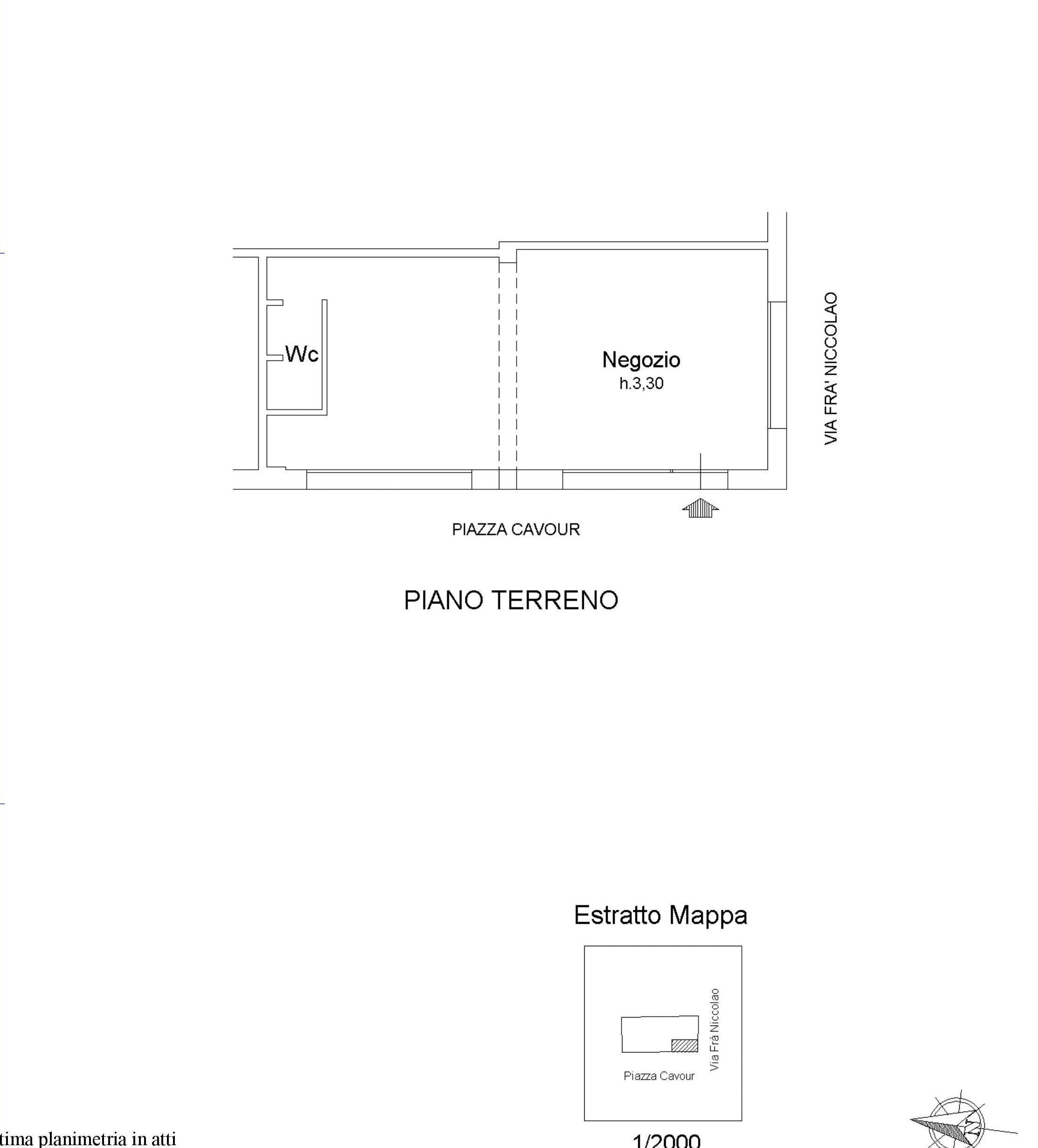 Locale comm.le/Fondo in affitto commerciale, rif. 317 (Planimetria 1/2)