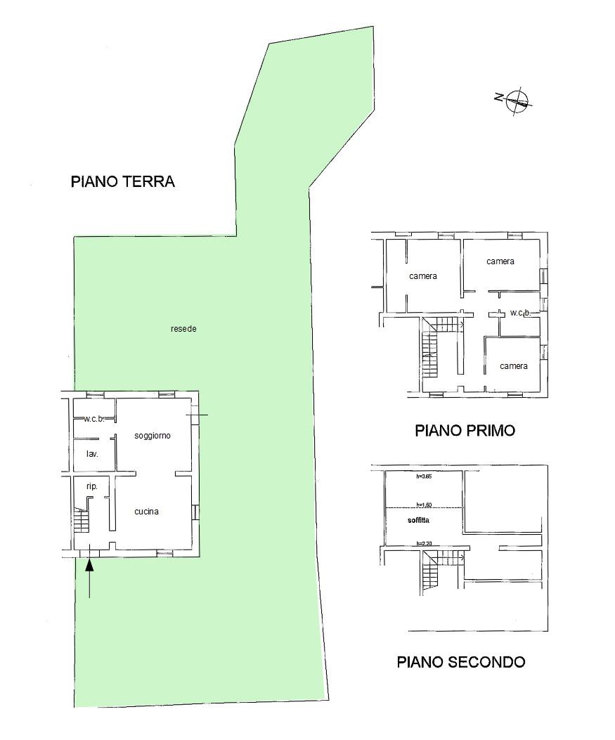 Casale in vendita, rif. 444 (Planimetria 1/1)