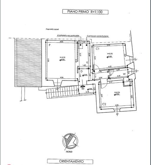 Porzione di casa in vendita, rif. 455 (Planimetria 1/1)