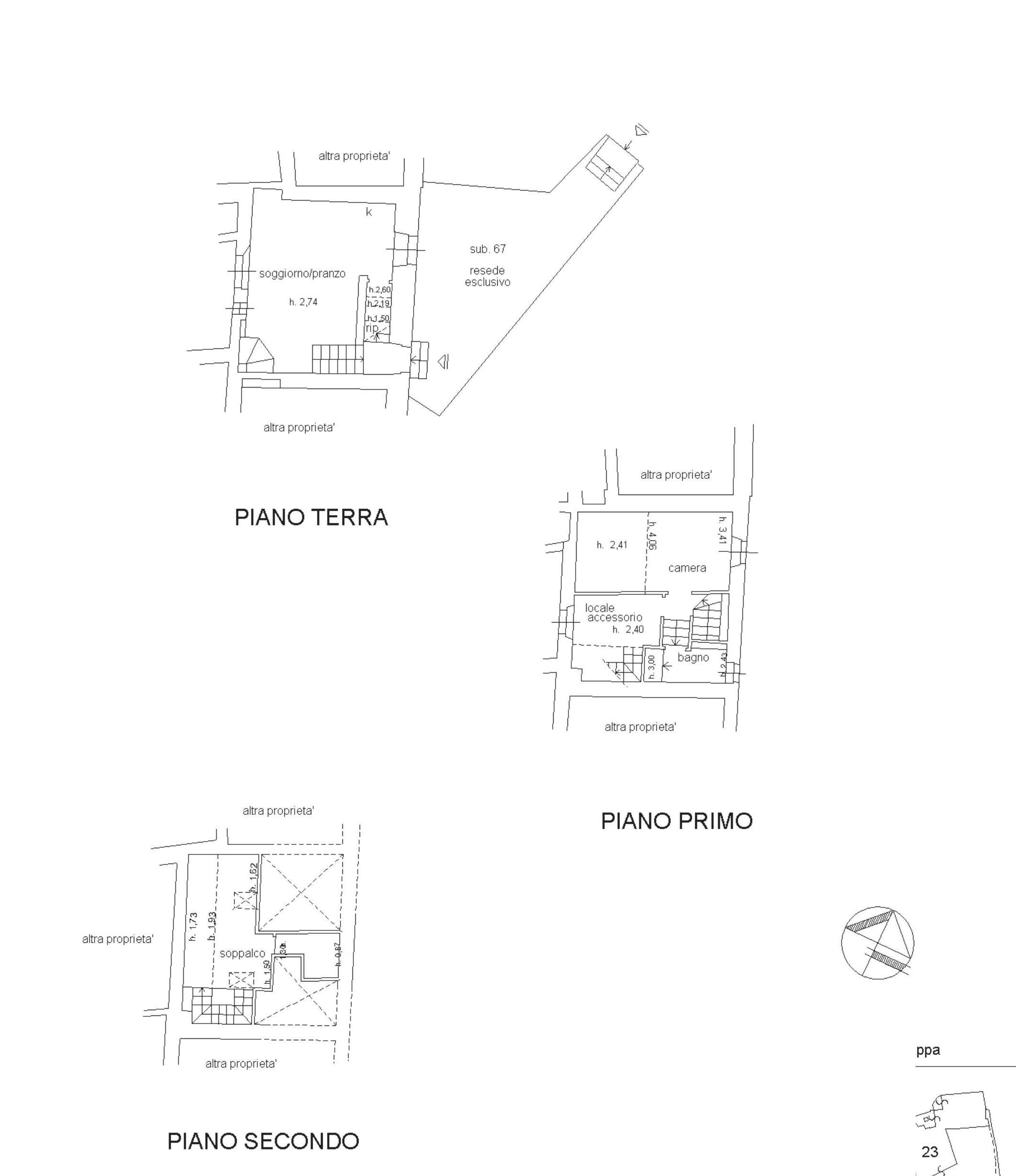 Rustico in vendita, rif. 497 (Planimetria 1/1)