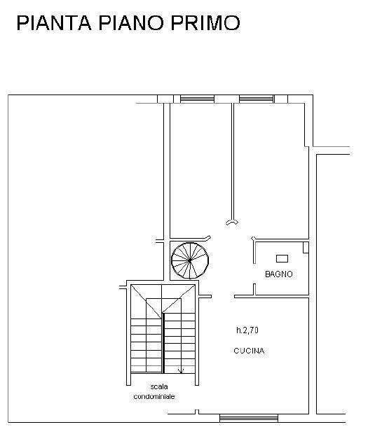 Appartamento in vendita, rif. 508 (Planimetria 1/2)