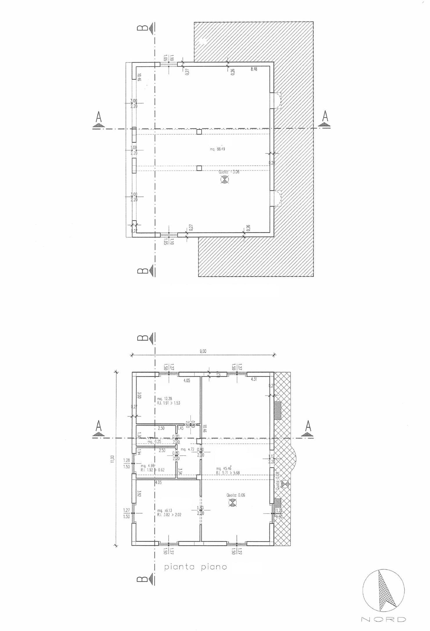 Casale in vendita, rif. 386bis (Planimetria 1/4)