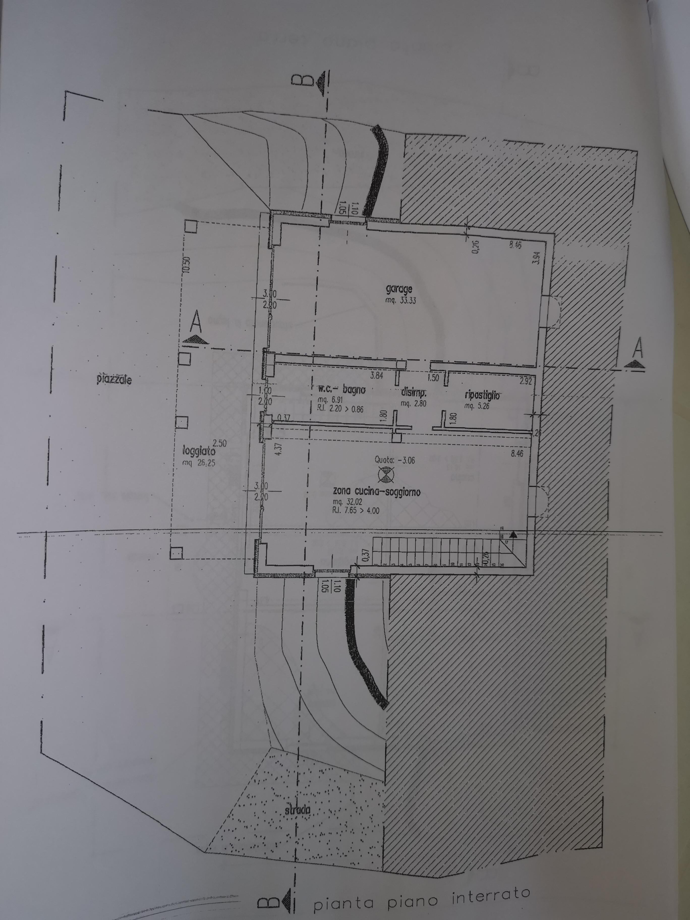 Casale in vendita, rif. 386bis (Planimetria 3/4)