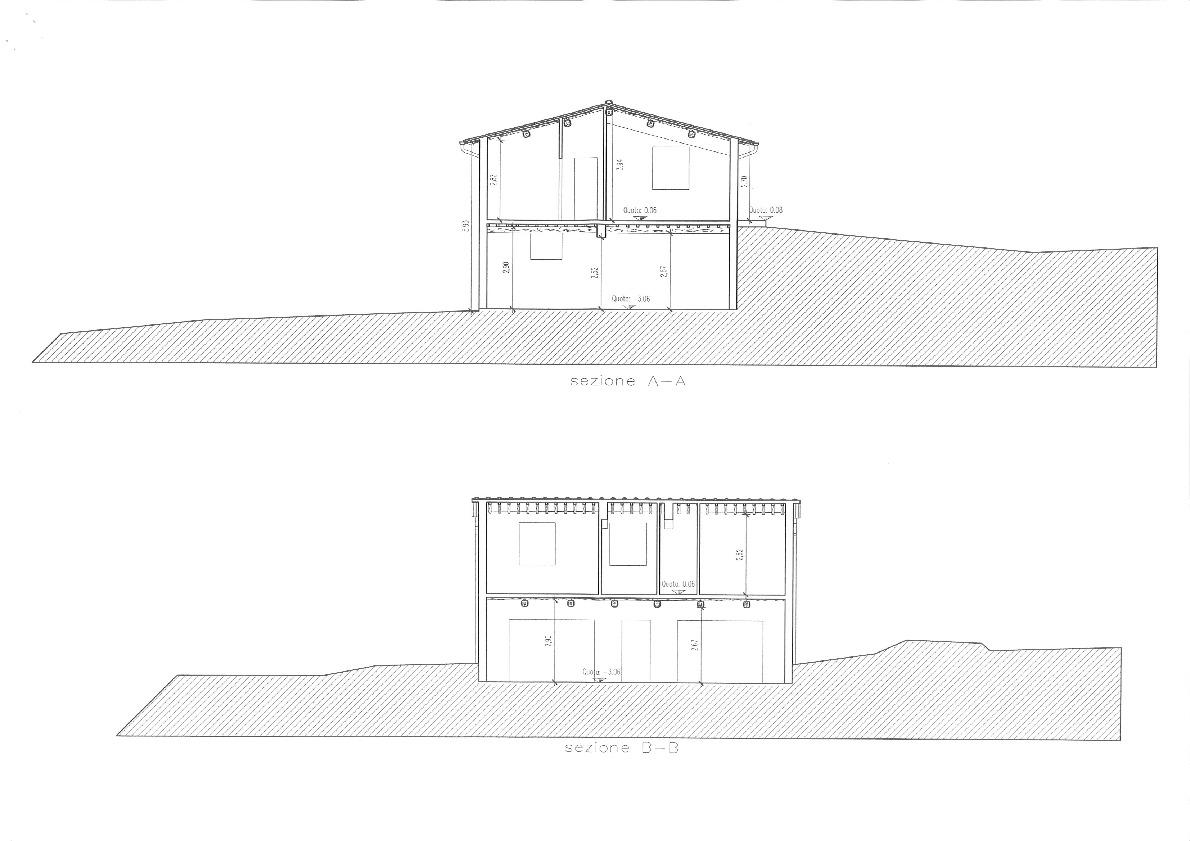 Casale in vendita, rif. 386bis (Planimetria 2/4)