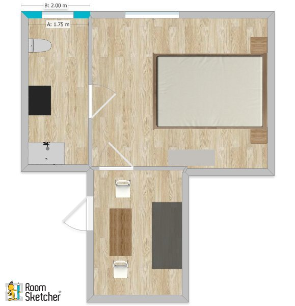 Appartamento in affitto, rif. 348tris (Planimetria 1/1)