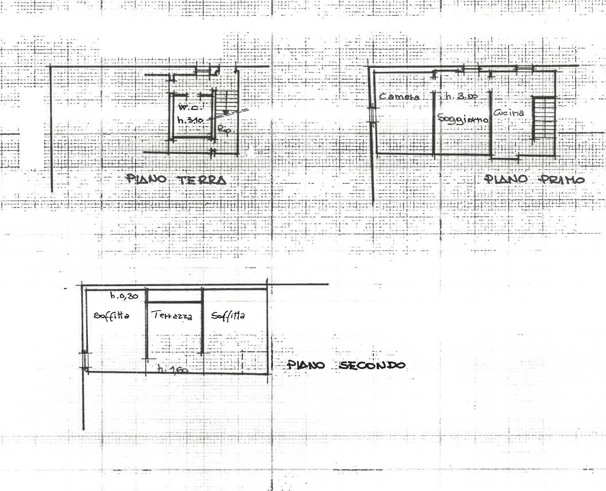 Terratetto in vendita, rif. 581 (Planimetria 2/3)