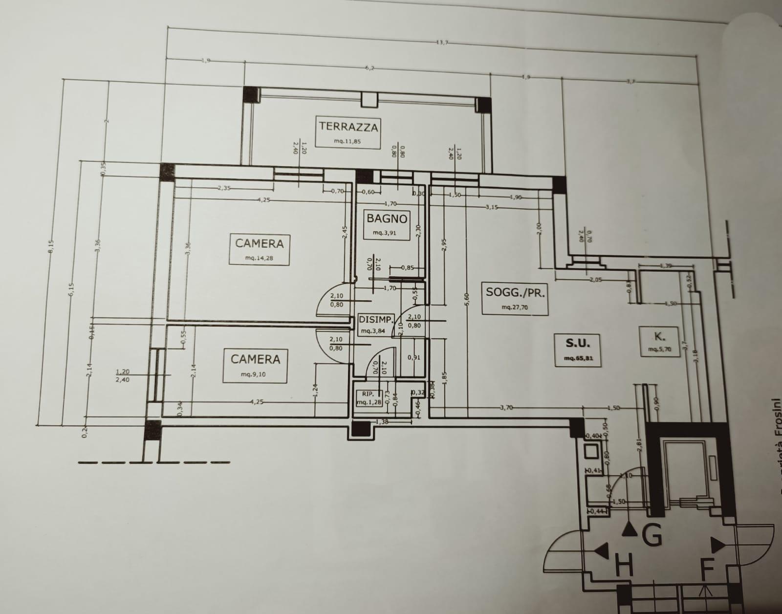 Appartamento in vendita, rif. 606 (Planimetria 1/1)