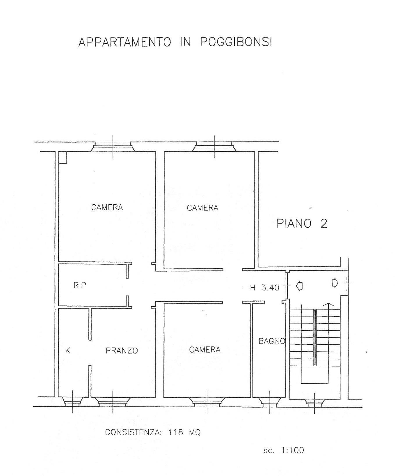 Appartamento in vendita, rif. 617 (Planimetria 1/1)