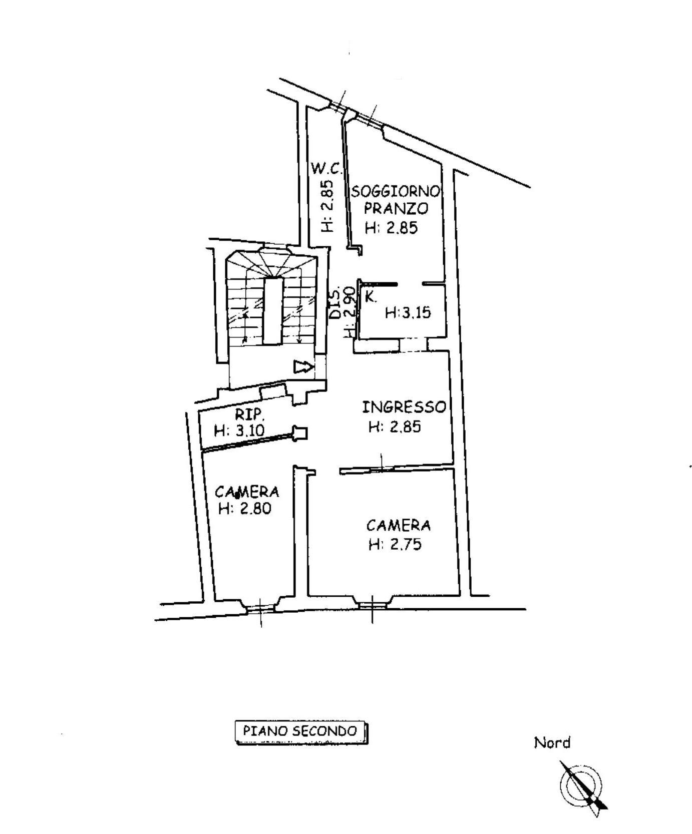 Appartamento in vendita, rif. 639 (Planimetria 1/1)