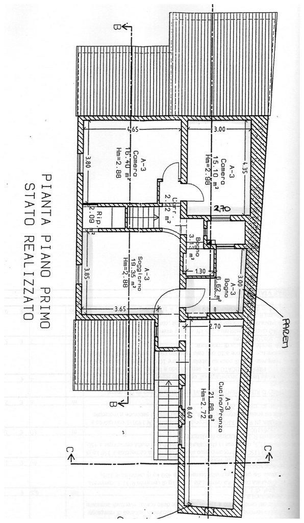 Porzione di casa in vendita, rif. 655 (Planimetria 1/1)