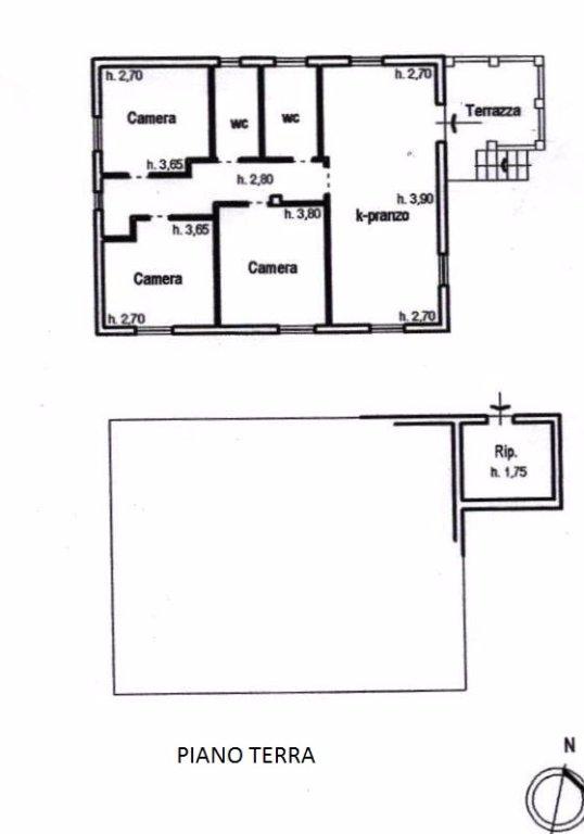 Villa singola in vendita, rif. 312 (Planimetria 1/2)