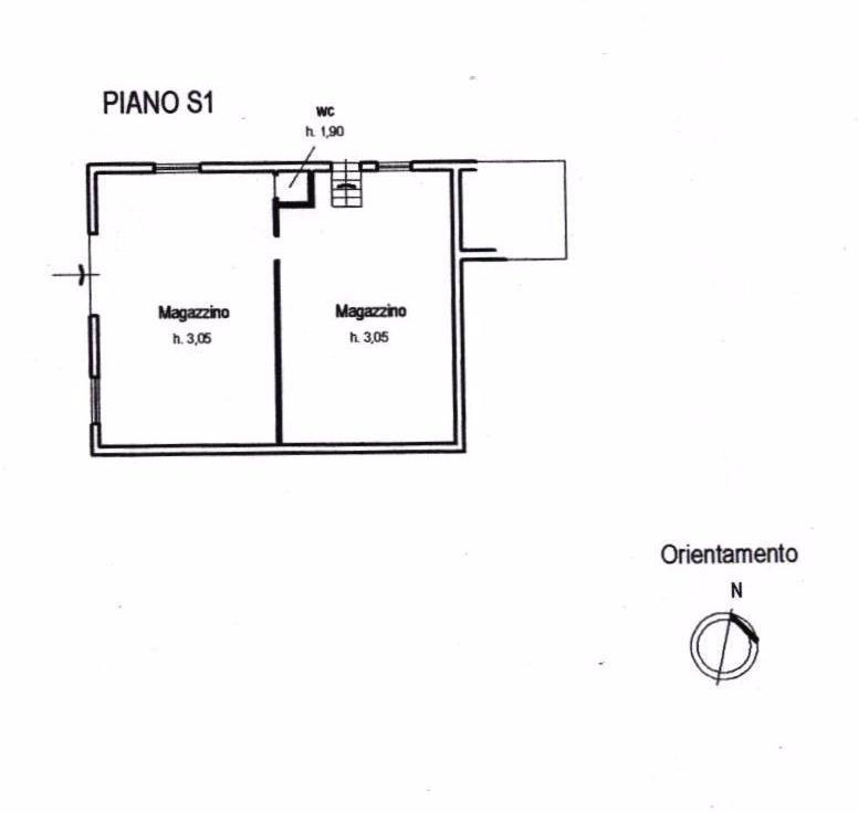 Villa singola in vendita, rif. 312 (Planimetria 2/2)