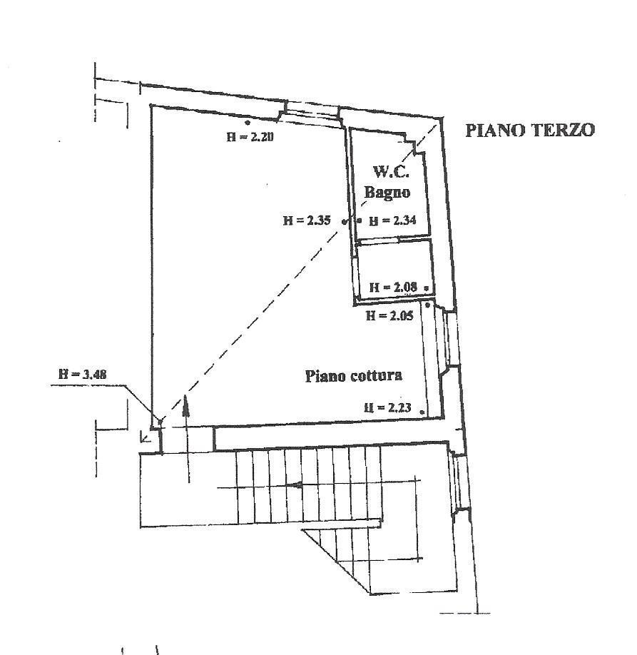 Mansarda in vendita, rif. 130tris (Planimetria 1/1)