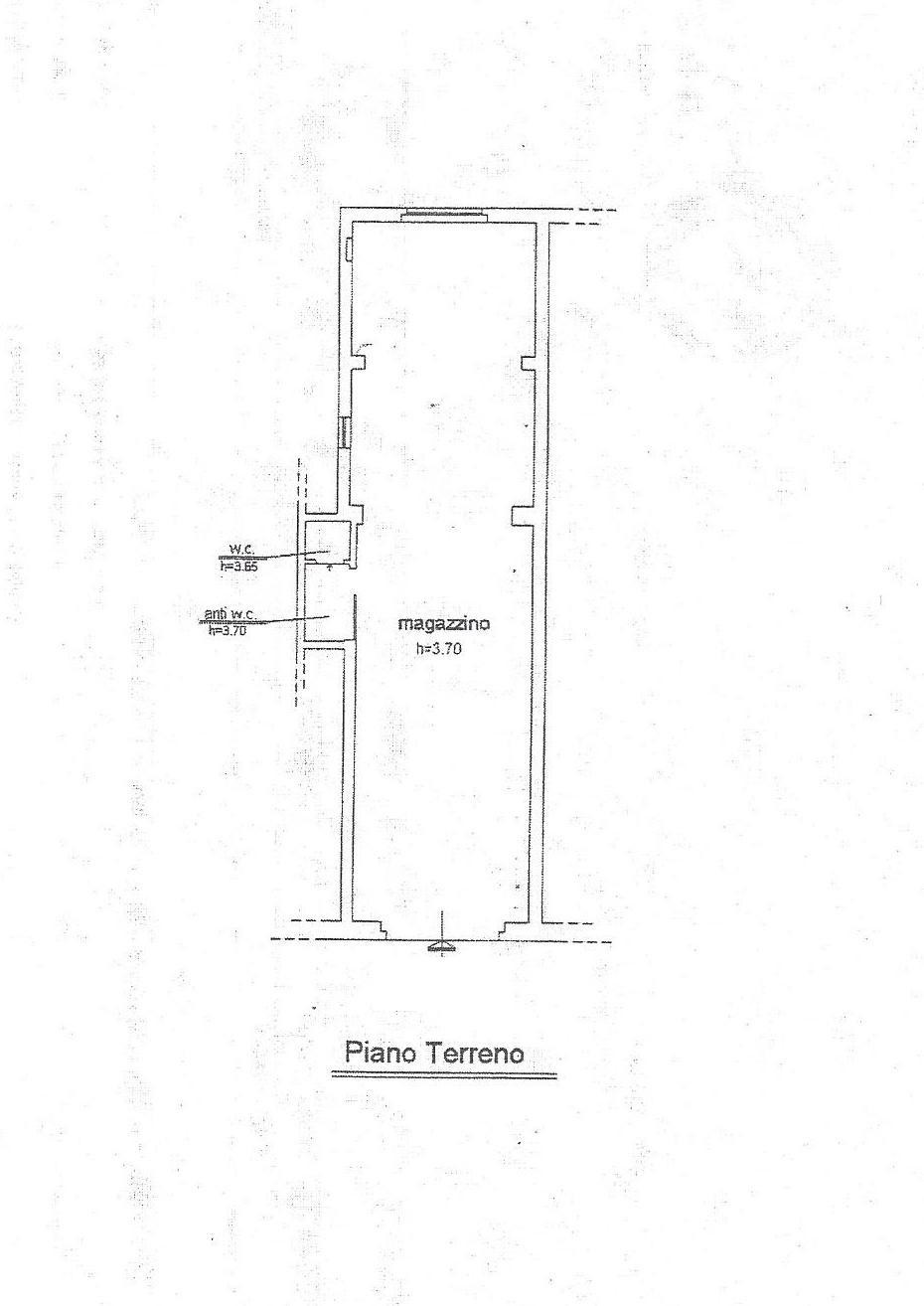 Magazzino in vendita, rif. 622bis (Planimetria 1/1)