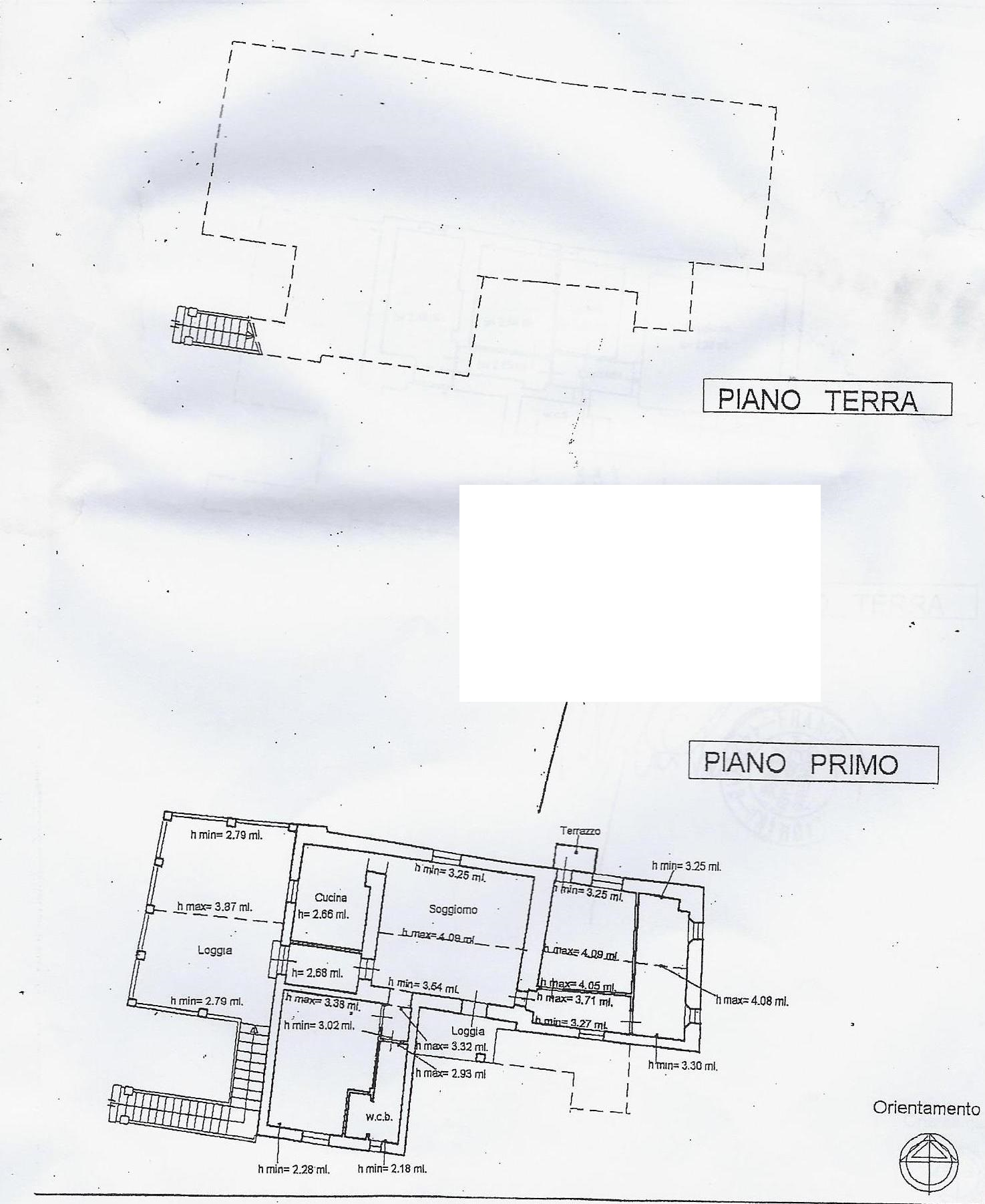 Portion of house for sale, ref. 662bis (Plan 1/1)
