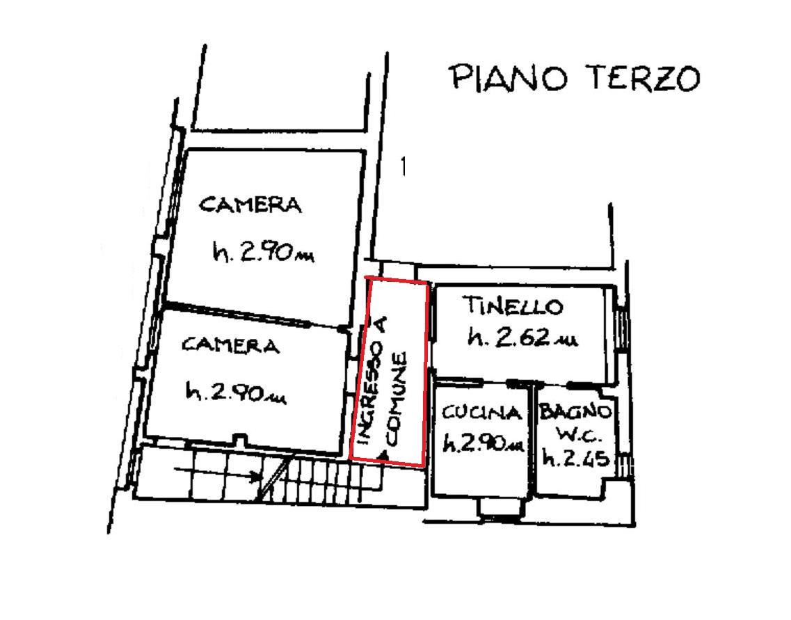 Appartamento in affitto, rif. 600 (Planimetria 1/1)