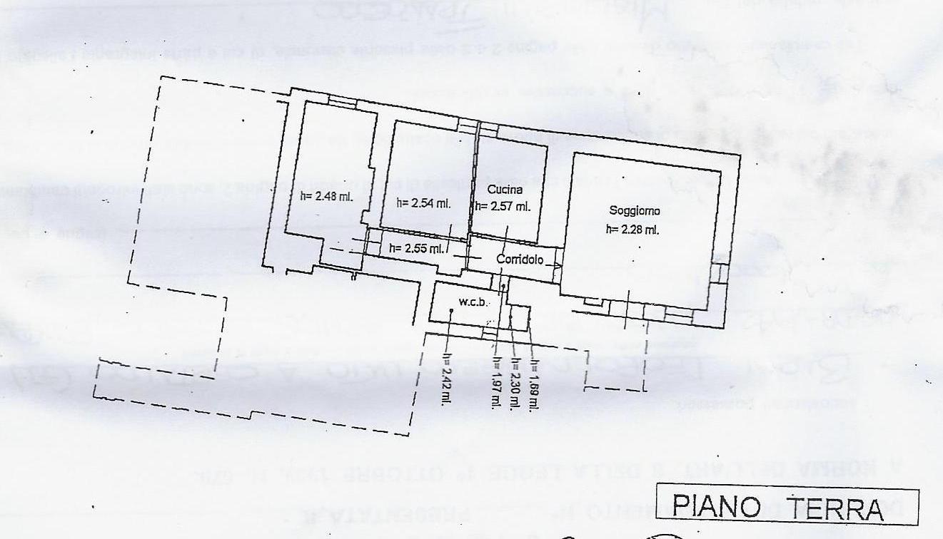 Porzione di casa in vendita, rif. 662tris (Planimetria 1/1)