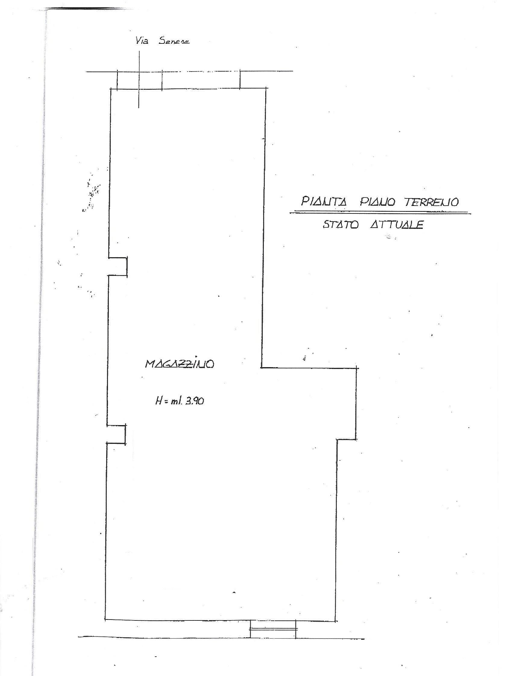 Locale comm.le/Fondo in vendita, rif. 320 (Planimetria 1/1)