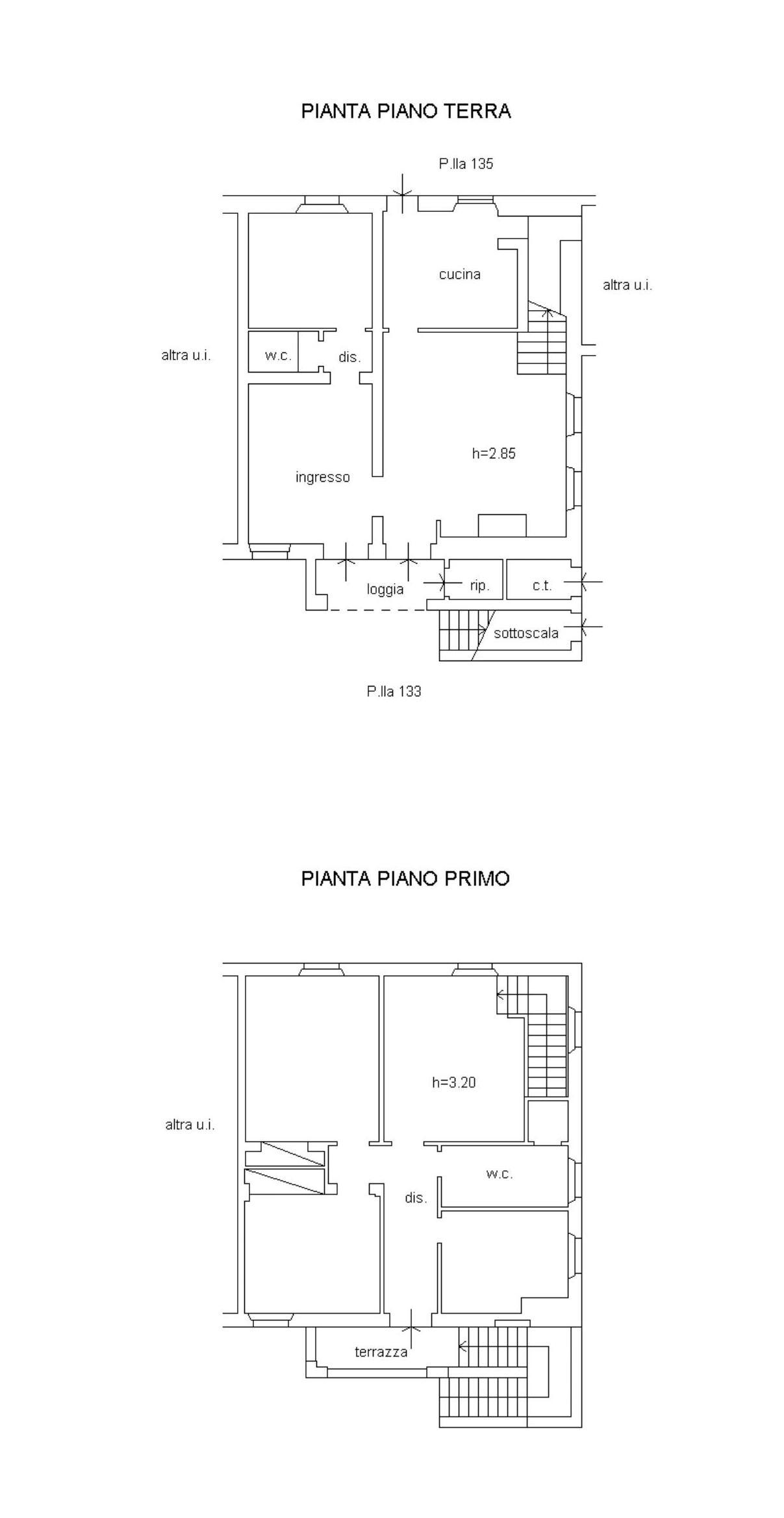 Terratetto in vendita, rif. 355 (Planimetria 1/1)