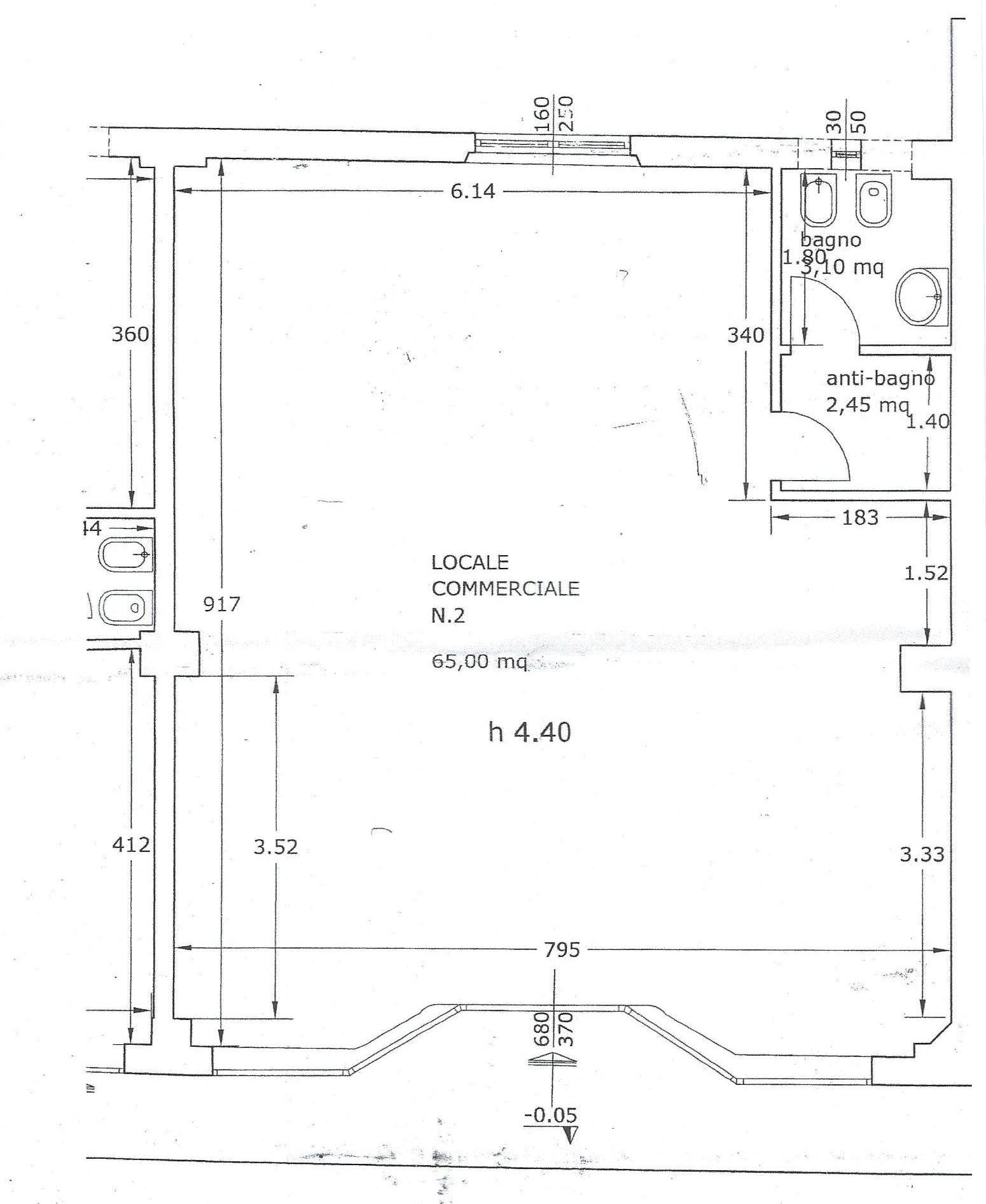 Locale comm.le/Fondo in affitto commerciale, rif. 685 (Planimetria 1/1)